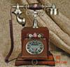 贵阳礼品,维纳斯原木电话768元工艺精品 - 精品电话机