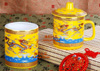 贵阳礼品,双龙献宝二件套498元工艺精品 - 红瓷/黄瓷