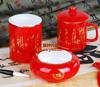 贵阳礼品,诗词三件套(红瓷)788元工艺精品 - 红瓷/黄瓷