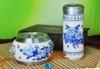贵阳礼品,青花瓷茶叶罐杯二件套965元工艺精品 - 红瓷/黄瓷