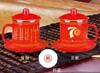 贵阳礼品,红瓷骨质瓷二杯二碟套杯575元工艺精品 - 红瓷/黄瓷