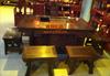 贵阳礼品,黑檀将军茶桌六件套56800元工艺精品 - 红木/炭雕