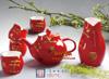 贵阳礼品,红瓷唐衣茶具六件套688元工艺精品 - 红瓷/黄瓷