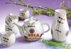 贵阳礼品,骨瓷唐衣茶具六件套695元工艺精品 - 骨瓷/青花瓷
