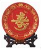 贵阳礼品,福寿绵长红底盘(漆线雕)5980元节日礼品