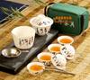 贵阳礼品,高白瓷旅行茶具十件套