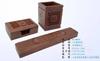 贵阳礼品,非洲酸枝笔筒名片盒纸镇三件套0元工艺精品 - 红木/炭雕