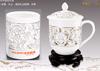 贵阳礼品,骨瓷镂空茶杯笔筒二件套0元工艺精品 - 精品茶具/杯