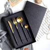 贵阳礼品,304不锈钢葡萄牙黑金餐具四件套