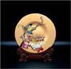 贵阳礼品,雅琅晶化玻璃彩绘双立鸟0元工艺精品 - 工艺摆件