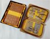 贵阳礼品,棕色鳄鱼纹拉链包不锈钢10件套0元家居生活礼品 - 美容用品