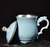 贵阳礼品,999鎏银/陶瓷银杯(汝窑)0元工艺精品 - 精品茶具/杯
