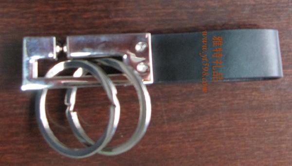 贵阳礼品,高级不锈钢双环钥匙扣