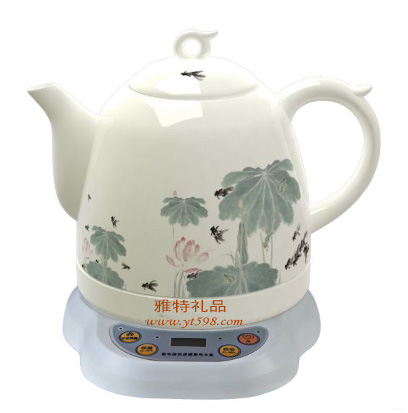 电水壶/茶具 写意荷花双温陶瓷电热水壶