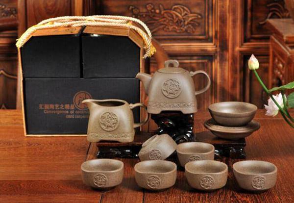 贵阳礼品,10头汉陶-方壶(展示盒包装)