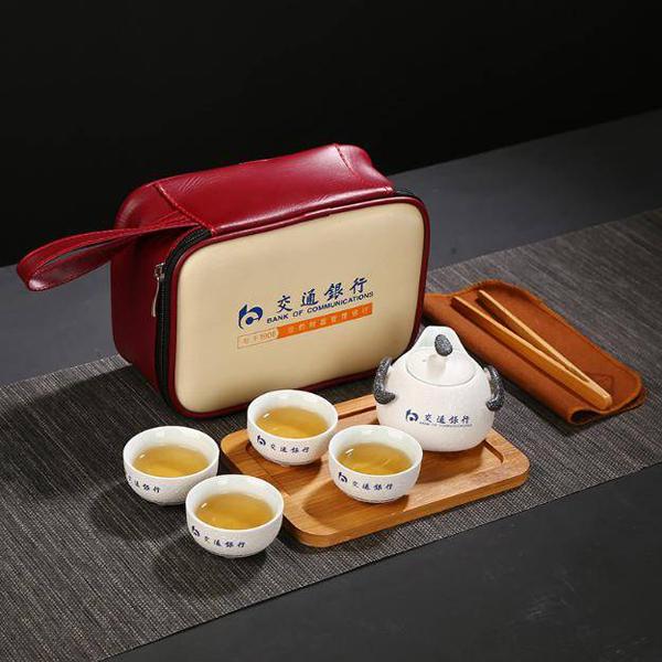 贵阳礼品,雪花釉旅行茶具8件套