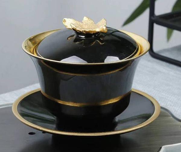 贵阳礼品,24K鎏金/陶瓷盖碗