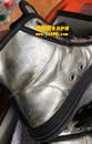 古驰(GUCCI)银色珠光皮鞋补伤翻新图