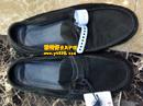 杰尼亚(Z ZEGNA)蓝黑色绒面鞋翻新对比图