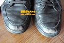 华斯度(VASTO)棕色皮鞋补伤翻新对比图