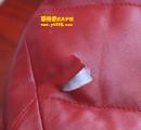红色皮衣补洞保养对比图