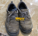 磨砂鞋去油污保养对比图