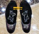 杜嘉班纳(D&G)金丝绒鞋粘缝内衬护理图