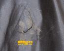 棕色皮衣补洞补伤黑汗领补色保养对比图