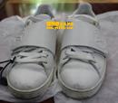 路易威登(LV)白色板鞋补伤翻新对比图