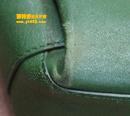 宝缇嘉(BV)绿色皮包补伤油边护理对比图