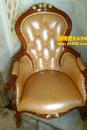 欧式米黄色单椅护理前后对比图