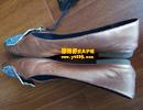 金色珠光皮鞋补伤改色翻新对比图