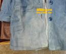 蓝色不均色皮衣翻新对比图