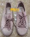 粉色磨砂鞋上色翻新对比图