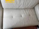 米白色沙发去笔印清洗保养对比图