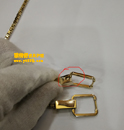 瓦勒拉(Valextra)镀金链扣穿孔焊接固定电镀金