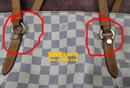 路易威登(LV)白色棋盘皮包换植鞣革护理图