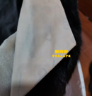 白色皮衣领染色救治