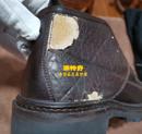阿玛尼皮鞋PU革老化换皮对比图