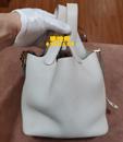 爱玛仕米白包吊篮皮包清洗护理去霉斑图